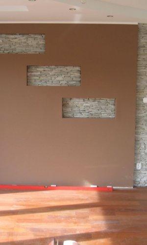 ściana z łupek marmurowych